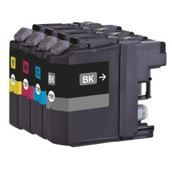 4x Brother LC137XL LC135XL LC-137XL LC-135XL Compatible Ink Cartridges