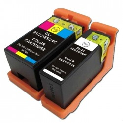 4 x Dell 21 22 23 24 Ink Cartridges - Two Sets