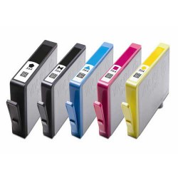 5 X HP 564 564XL Compatible Ink Cartridges Photosmart Deskjet