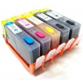 5 X Refillable HP 564 HP564 Compatible Ink Cartridges - One Set