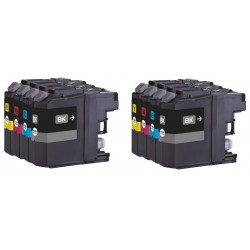 8x Brother LC137XL LC135XL LC-137XL LC-135XL Compatible Ink Cartridges