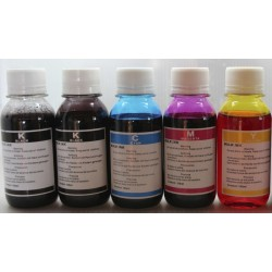 Canon Refill Ink for Ink Cartridges and CISS - Five 100ml Bottles