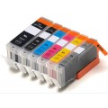 6 x Canon PGI-670XL CLI-671XL Compatible Ink Cartridges with Grey