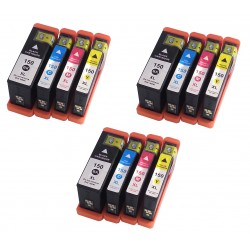 12 x Lexmark 150 150XL Ink Cartridges for Pro715 Pro915 S315 S415 S515